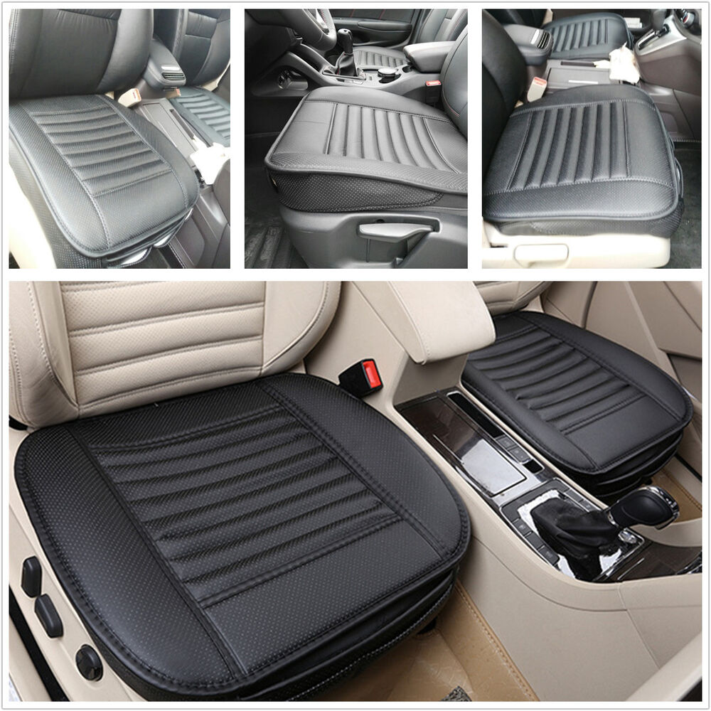 bamboo charcoal pu leather car seats protect mat cover full surround cover pad ebay. Black Bedroom Furniture Sets. Home Design Ideas