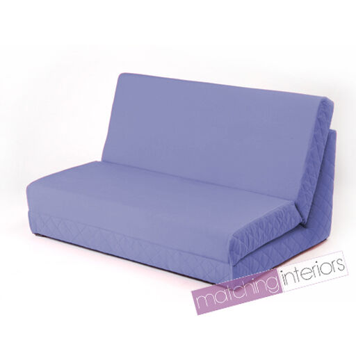 Lilac Fold Out Z Bed Double Chair 2 Seat Sofa Guest Bed Mattress Futon Studen