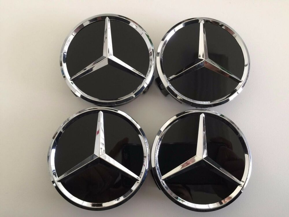 4 pcs 75mm 3 inch black wheel badge center caps for