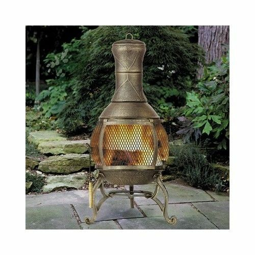 Chiminea Fireplace Outdoor Patio Fire Pit Wood Burning