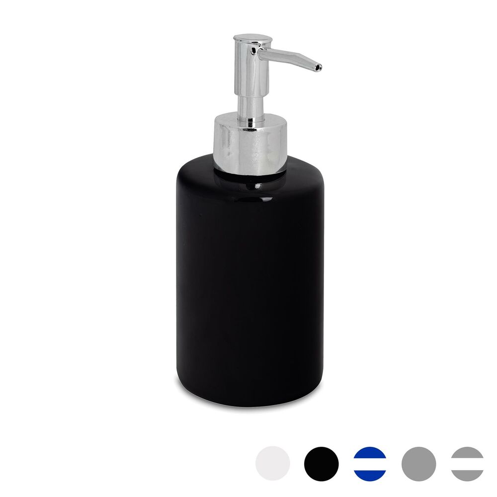 Glazed Black Ceramic Bathroom Soap Pump Dispenser 280ml