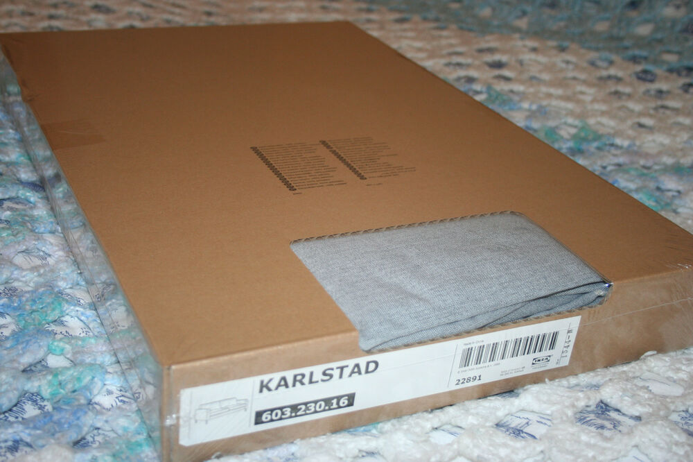 IKEA KARLSTAD Sofa Slipcover Cover Knisa Light Gray Grey ...