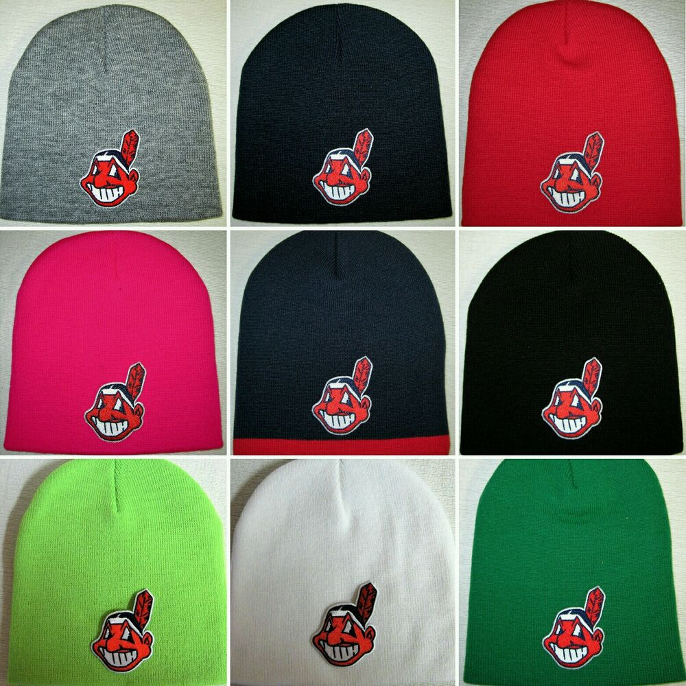 ed17fd18f2a Details about Cleveland Indians Beanie ~SKULL CAP ~HAT ~CLASSIC MLB PATCH  LOGO ~10 Colors ~NEW