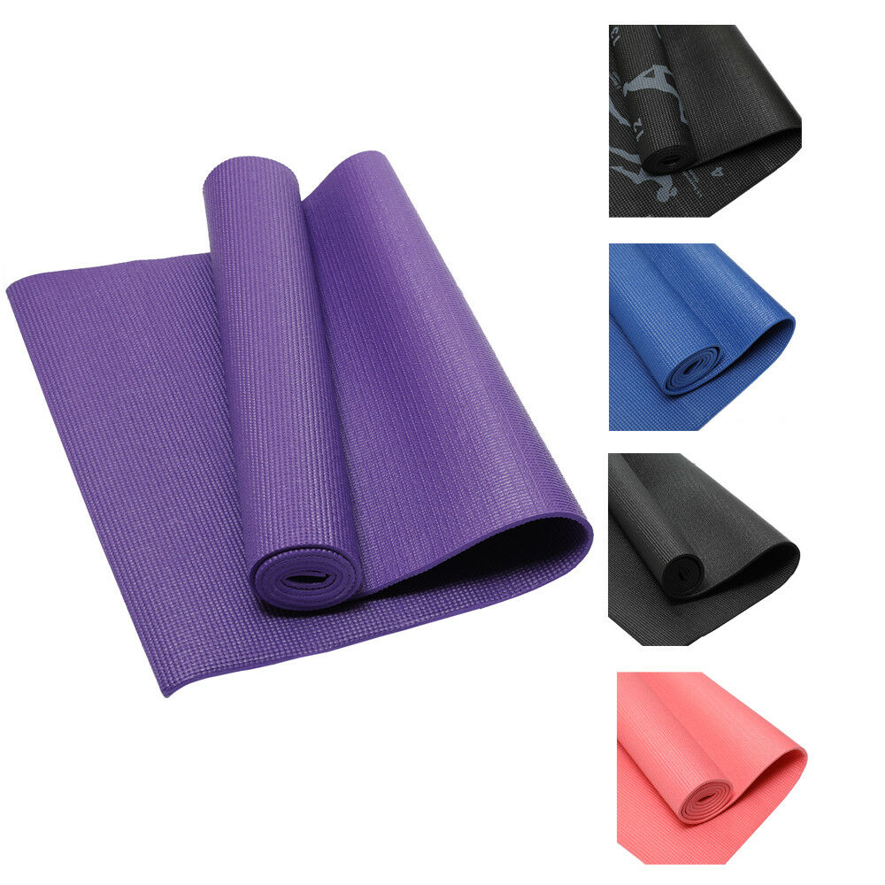 6mm Thick Non Slip Exercise Yoga Mats Gym Fitness Pilates