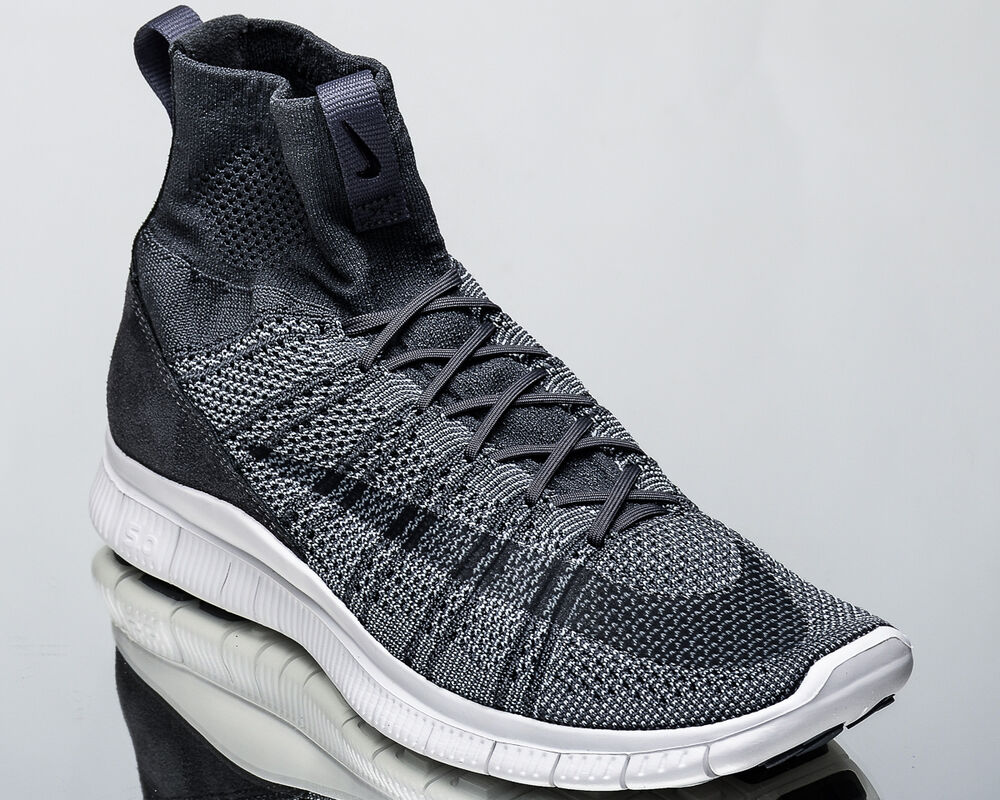 f288a2e0cad5 Details about Nike Free Flyknit Mercurial mens lifestyle casual sneakers dark  grey 667978-009