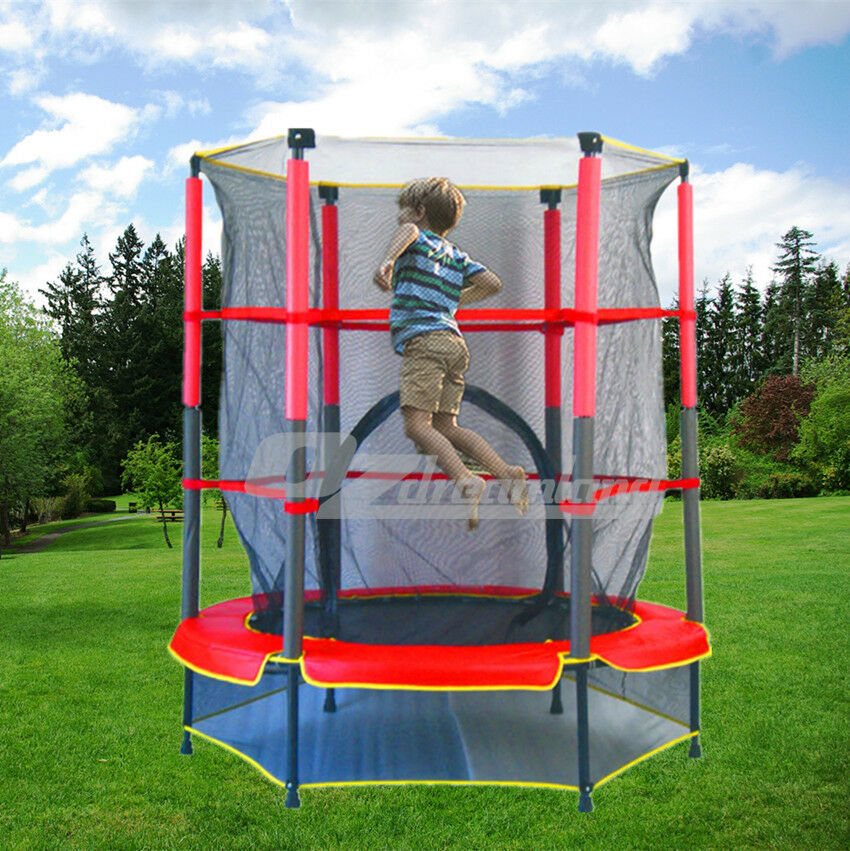 Kid Trampoline Lafayette: Indoor Outdoor Kids Junior Trampoline With Enclosure And
