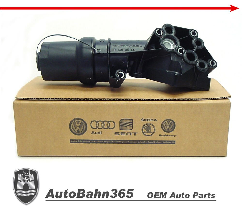 new genuine oem vw oil filter housing 2 5 passat beetle. Black Bedroom Furniture Sets. Home Design Ideas