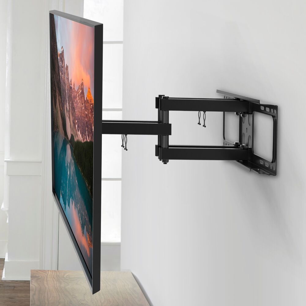 double arm full motion hd tv wall mount articulating bracket led lcd 48 60 70 ebay. Black Bedroom Furniture Sets. Home Design Ideas