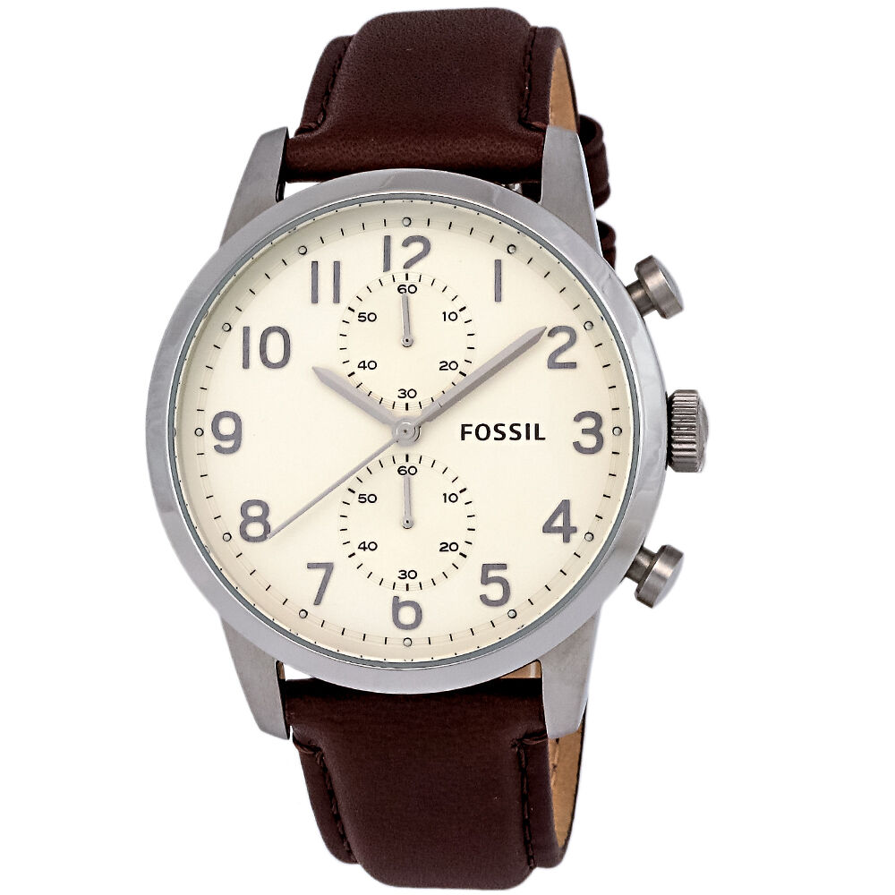 Fossil Watches For Men Price List Bq1718 Townsman Fs4872 Chronograph Brown Leather Cream