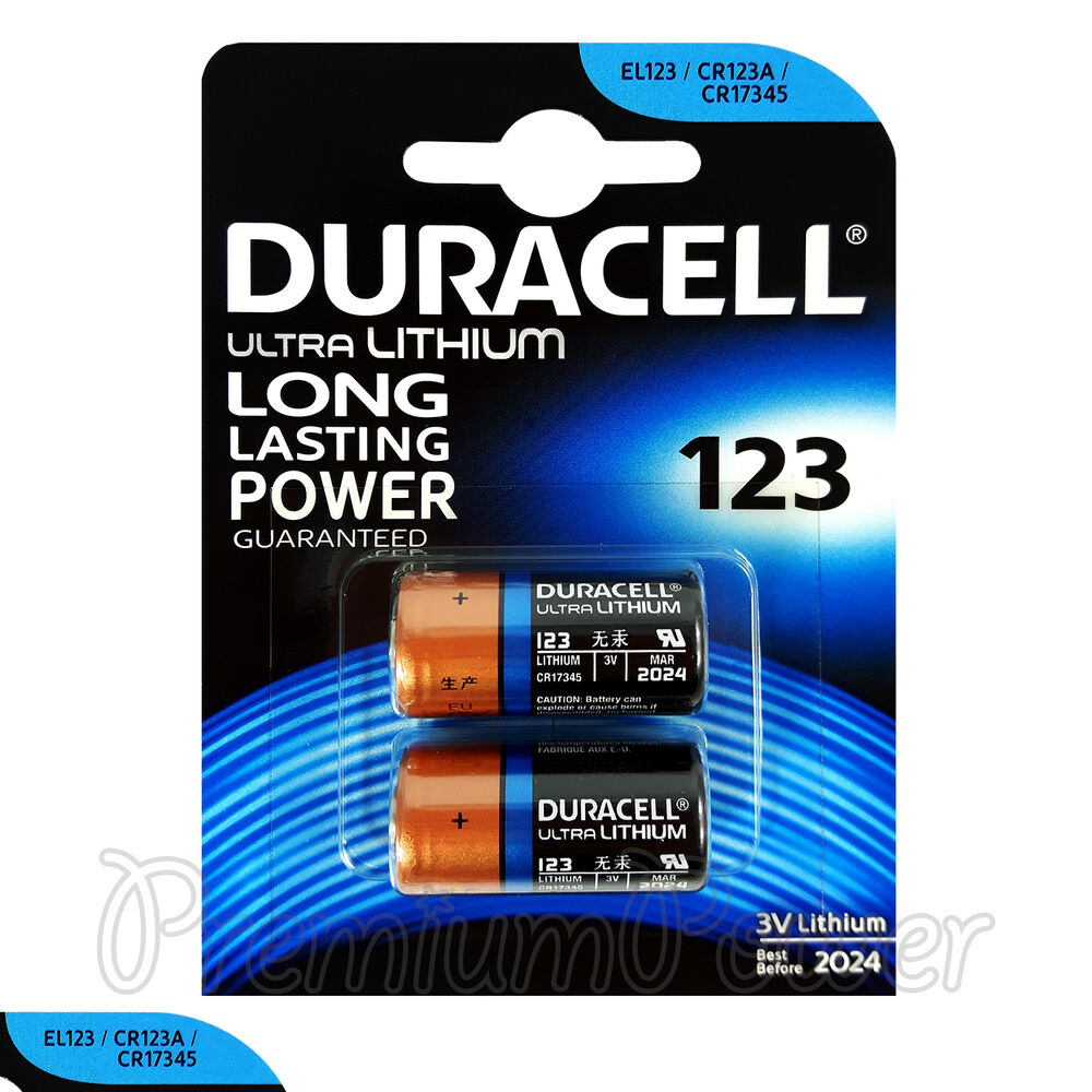 2 x duracell ultra lithium cr123a 3v batteries cr17345 el123 2 in pack exp 2024 ebay. Black Bedroom Furniture Sets. Home Design Ideas
