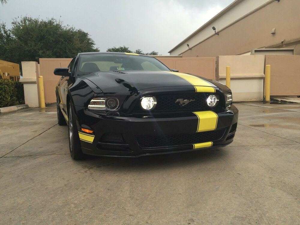 05 2014 mustang 8 offset rally stripes stripe graphics for Ebay motors mustang gt