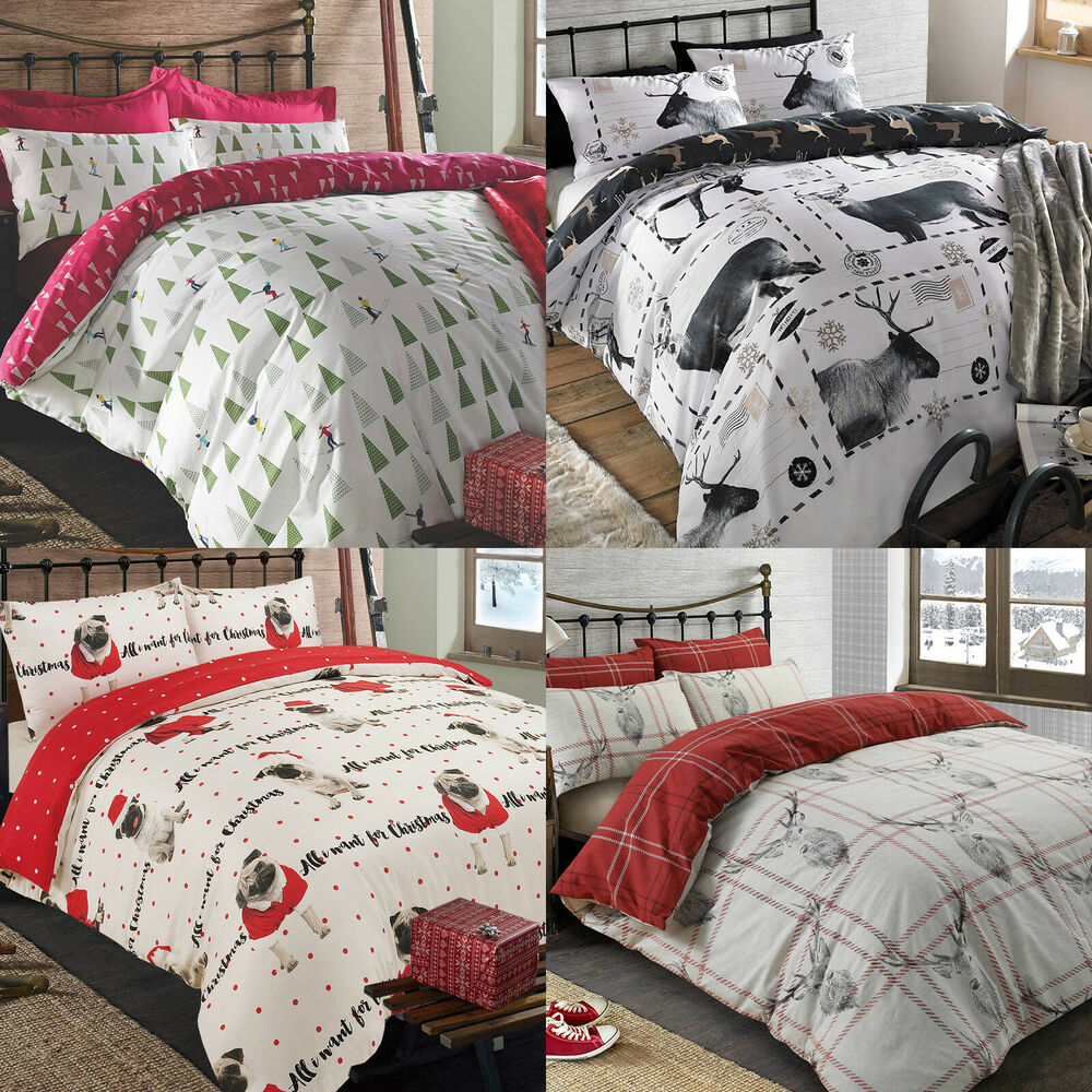 Christmas Quilt Duvet Cover With Pillowcase Bedding Set