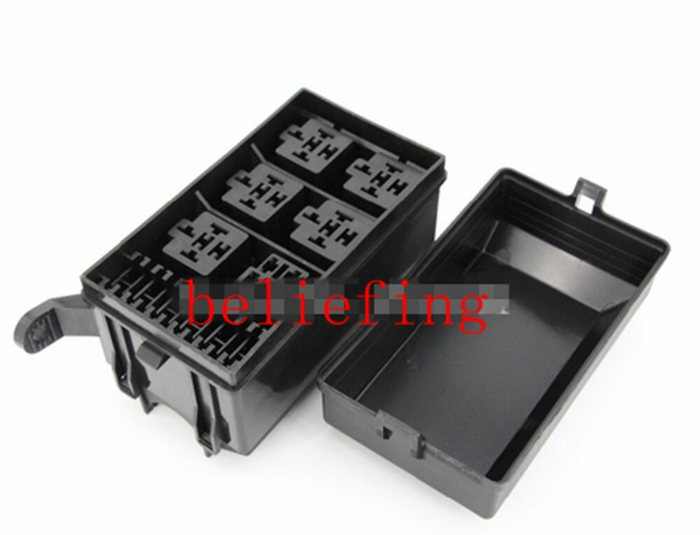 new 1pc auto fuse box assembly with terminals dustproof