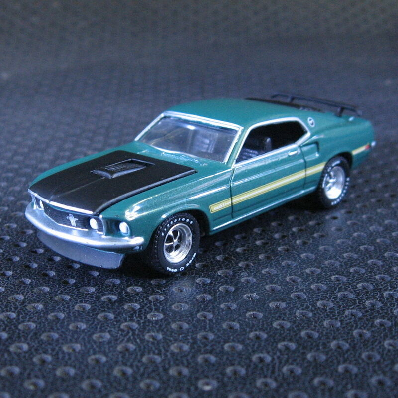 1 64 greenlight 1969 ford mustang mach 1 die cast model. Black Bedroom Furniture Sets. Home Design Ideas