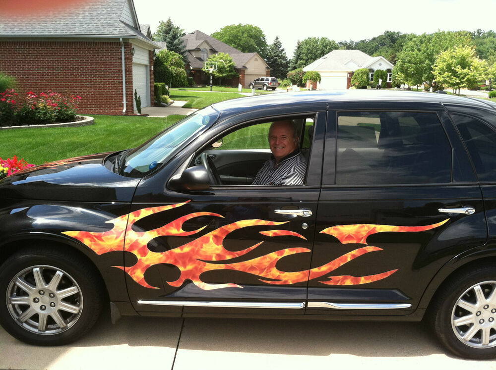 P T Cruiser Chevy Hhr Ssr Flame Flames 2 Full Color Side