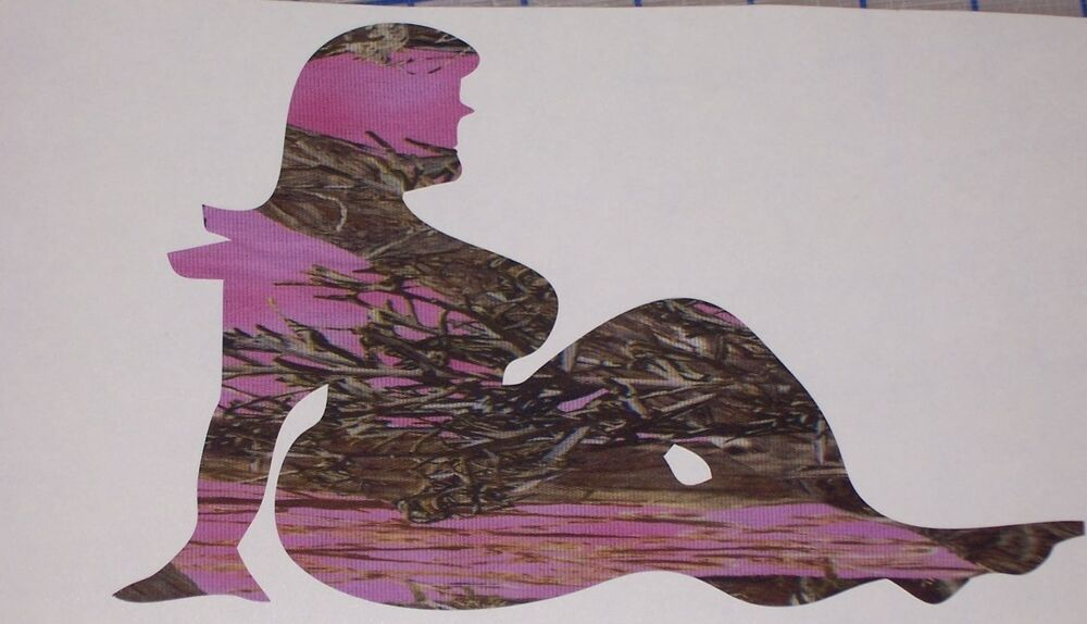 Pink Camo Chunky Fat Girl Woman Truck Decal Decals Trucker