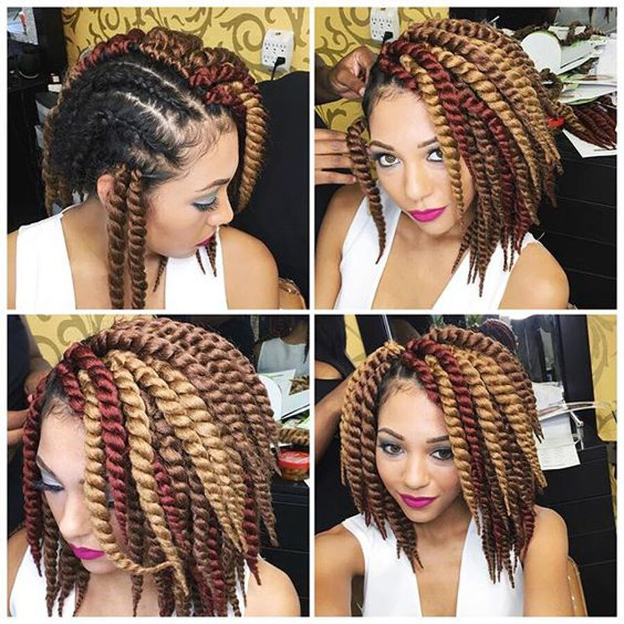 Crochet Hair Styles Prices : ... Havana Mambo Twist Crochet Braids Hair Brown And Burgundy eBay