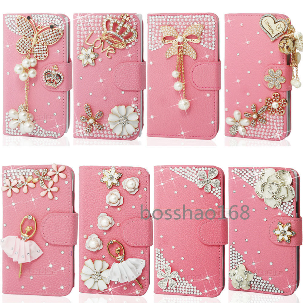 select all photos on iphone magnetic bling diamonds pu leather flip wallet 17996