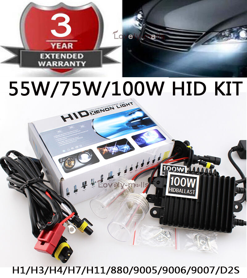 55w 75w 100w hid kit replacement xenon light ballast wire. Black Bedroom Furniture Sets. Home Design Ideas