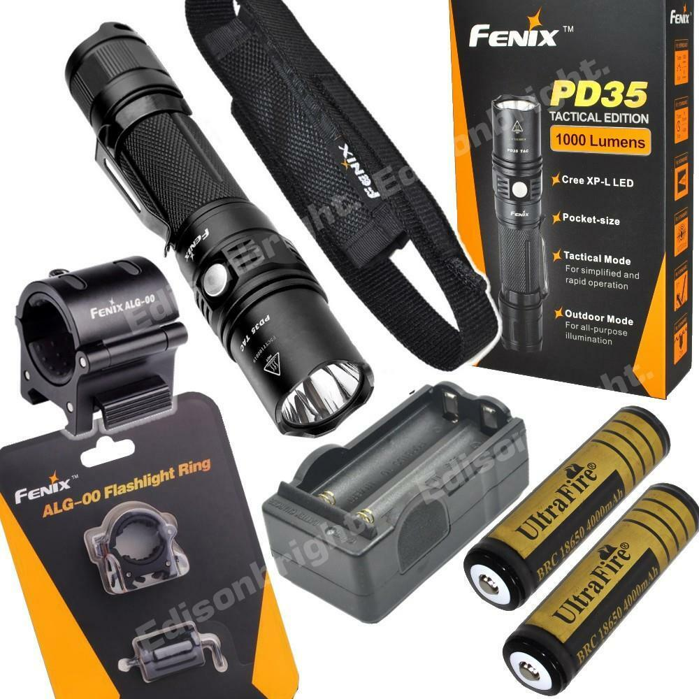 Fenix PD35 TAC 1000 Lumen LED tactical Flashlight w/2X ...