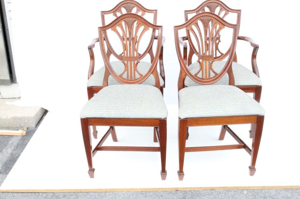 gorgeous set of six 6 english hepplewhite mahogany dining