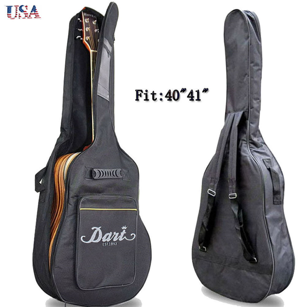 full size padded protective classical acoustic guitar back bag carry case 41inch ebay. Black Bedroom Furniture Sets. Home Design Ideas