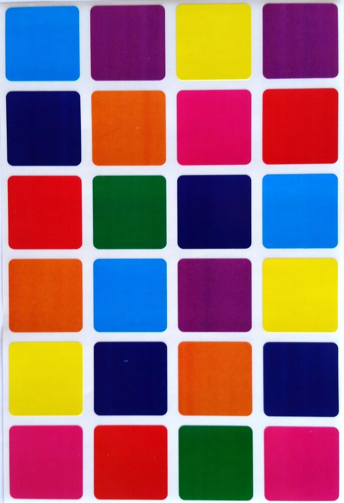 1 Inch Square Color Coding Stickers Permanent Adhesive Labels 240 Pack Ebay