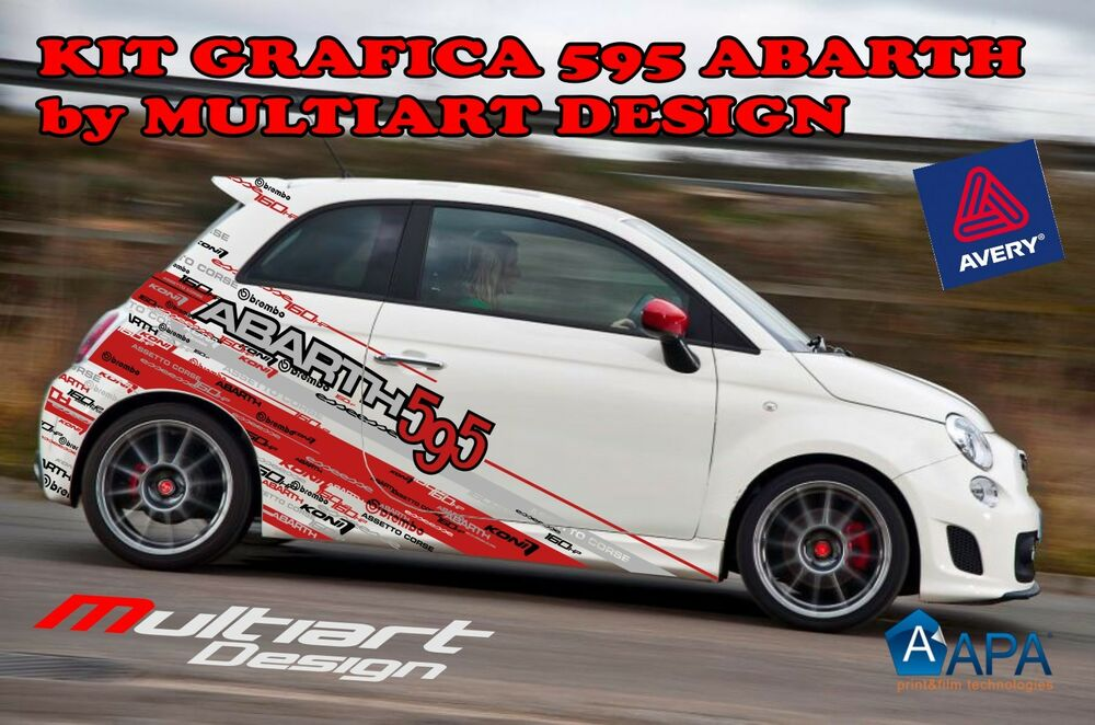 kit grafica adesivi per fiat 595 abarth 695 abarth 500 abarth essesse ebay. Black Bedroom Furniture Sets. Home Design Ideas