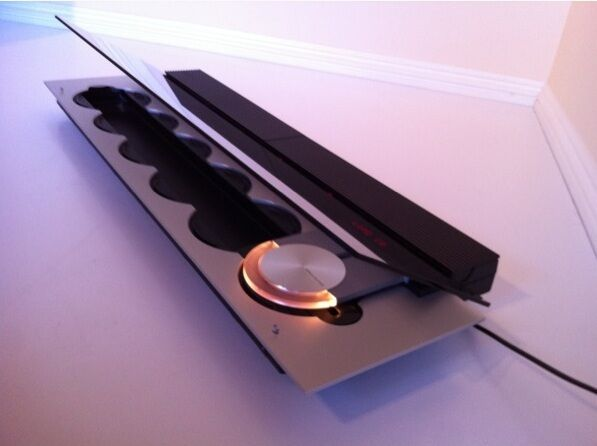 bang olufsen aluminum black beosound 9000 6 cd player. Black Bedroom Furniture Sets. Home Design Ideas