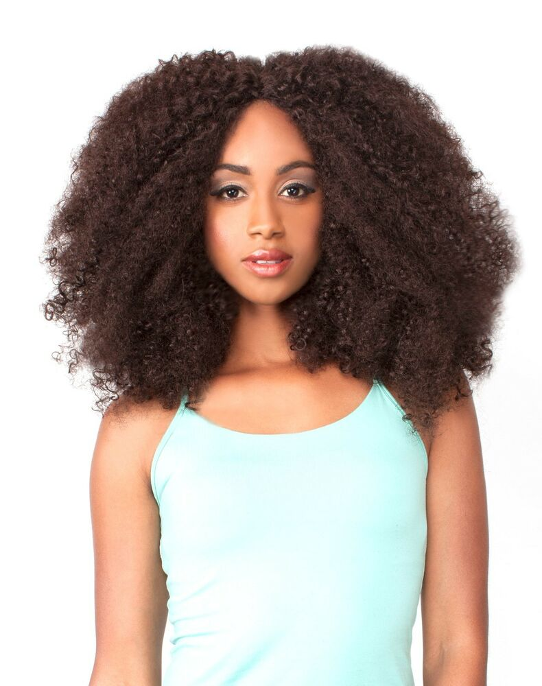 THE WIG HUMAN HAIR BLEND LACE FRONT WIG LH AFRO KINKY eBay
