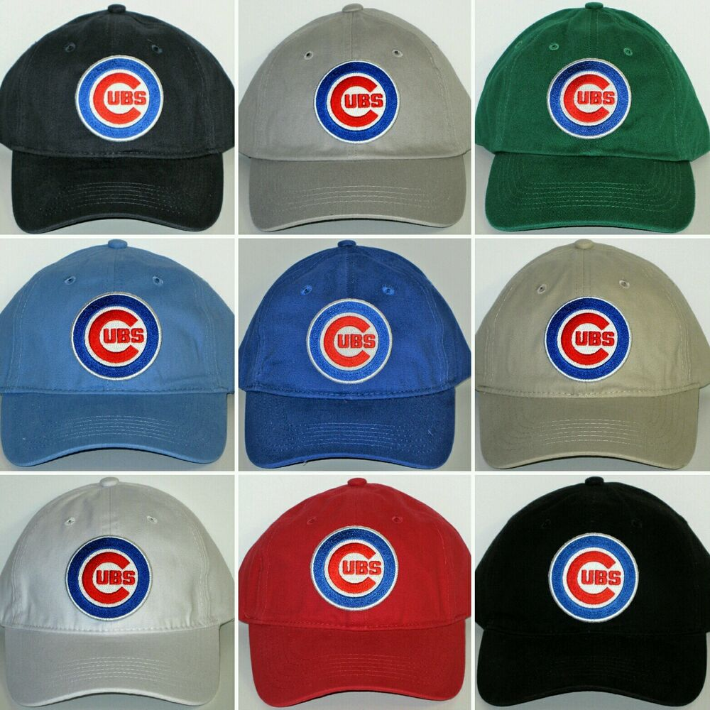 e60a0edc0cd1c Details about Chicago Cubs Polo Style Cap ✨Hat ✨PRIMARY MLB PATCH LOGO ✨9  Cool Colors ✨NEW