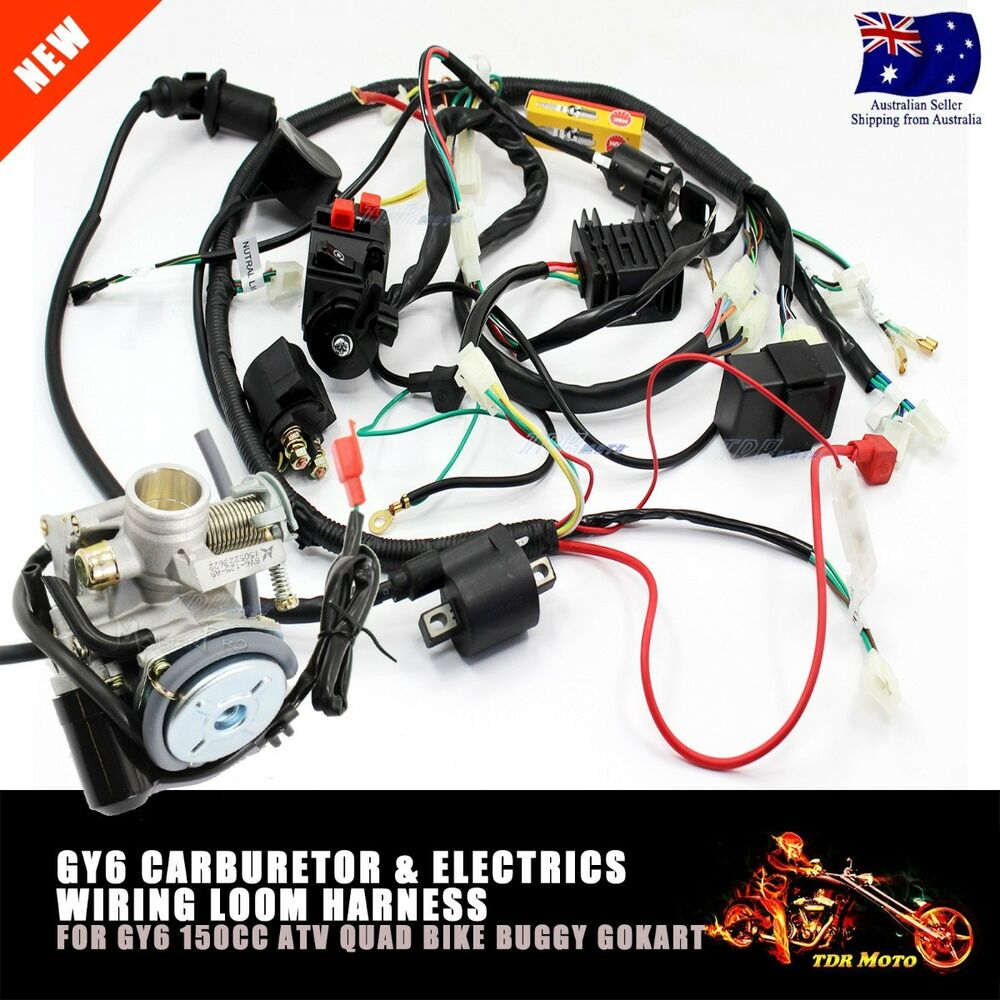 Gy6 Engine Wiring Harness Solutions Loom Carby Carburetor Electric For 150cc Quad