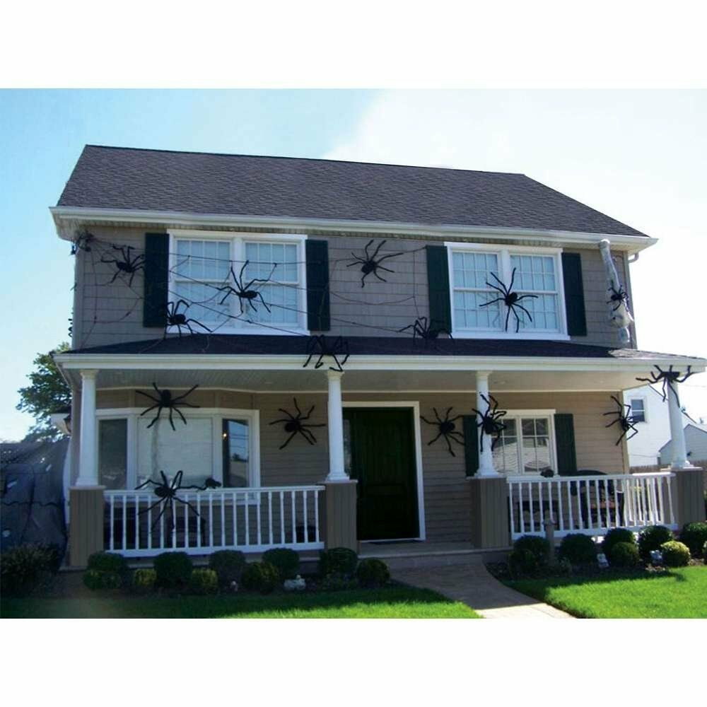 "Halloween Outdoor Yard Decorations: Halloween Hanging Decoration 50"" Giant SPIDER Decor House"