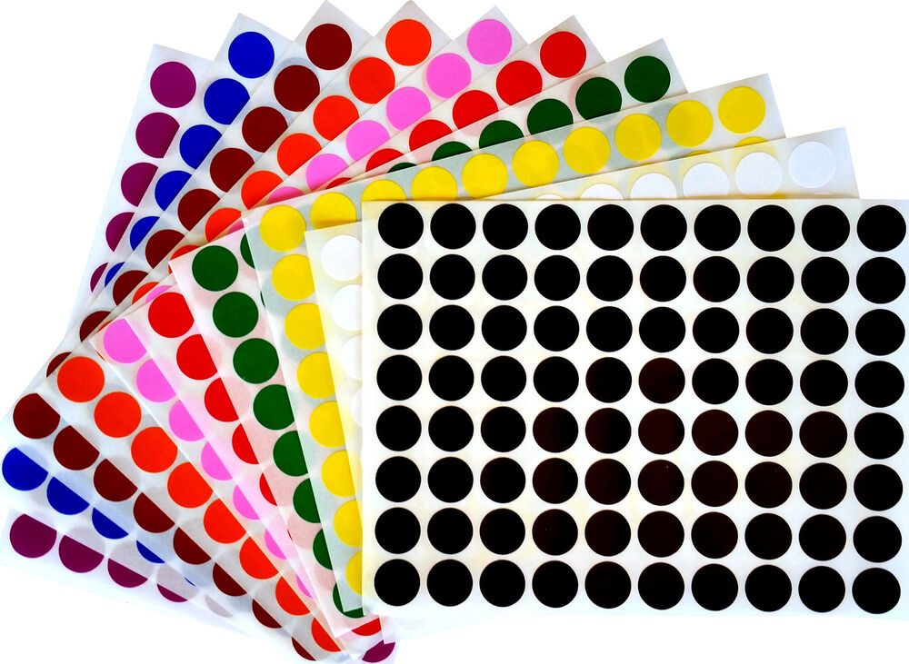 Color coding labels 1 2quot rounds dot colored half inch for Half inch round labels