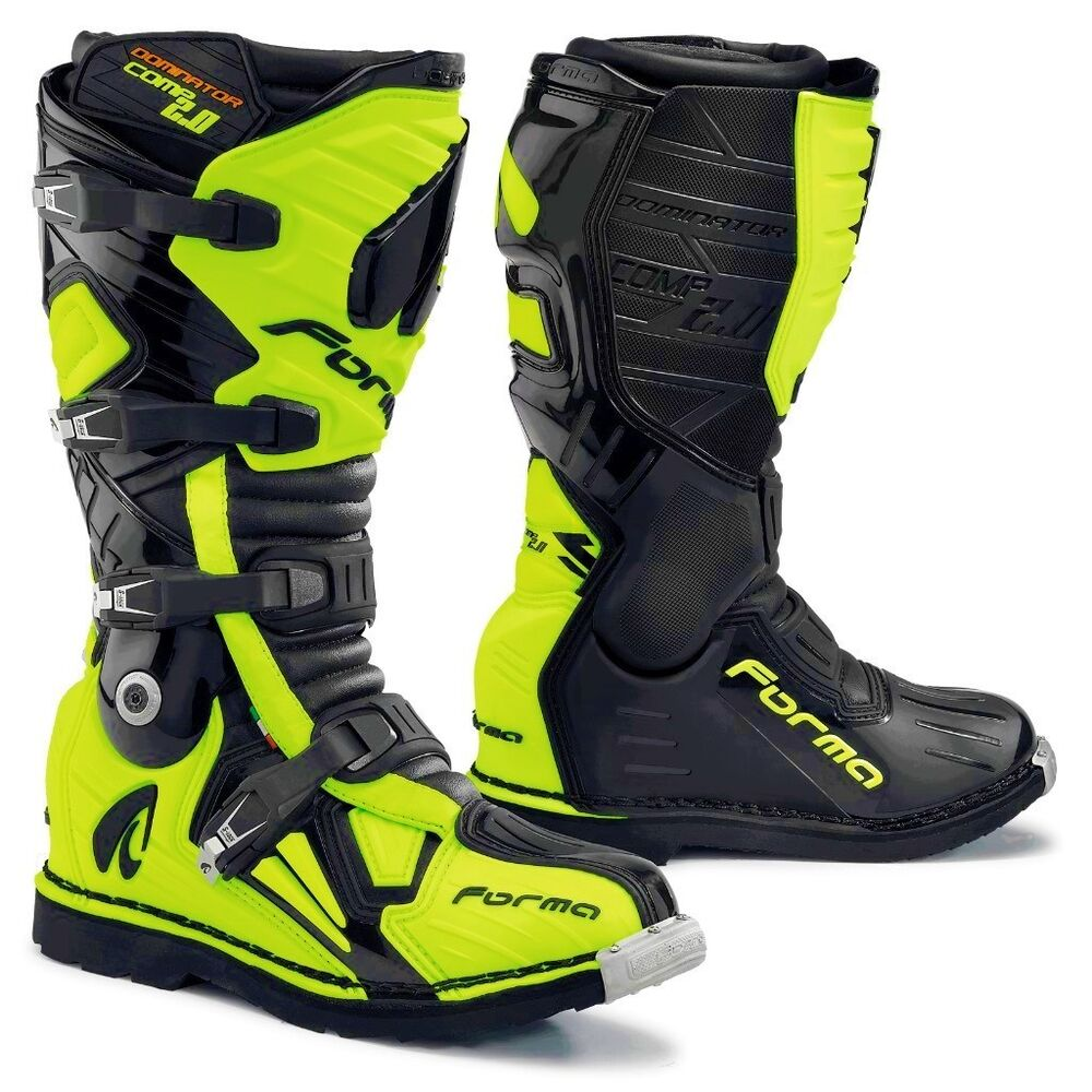 Forma Dominator Comp 2 0 White Motocross Motorcycle Boots