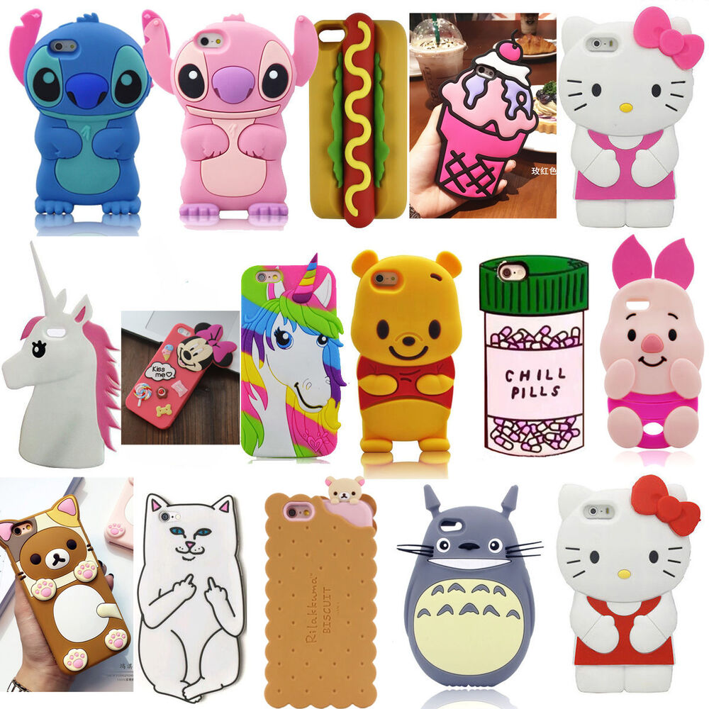 3d iphone cases 3d silicone phone for iphone 5 6 7 8 plus 2207
