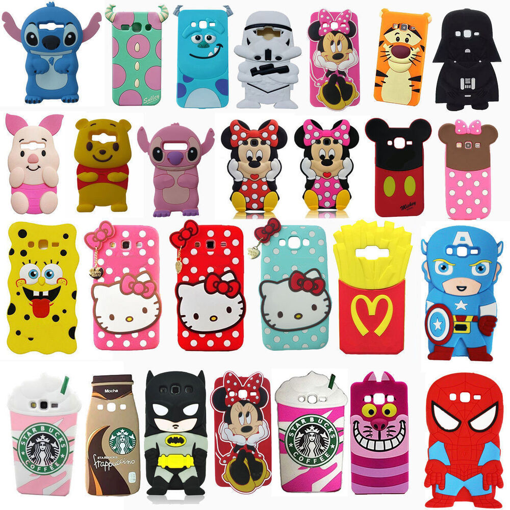 3d cartoon soft back skin silicone phone case cover for for 3d decoration for phone cases
