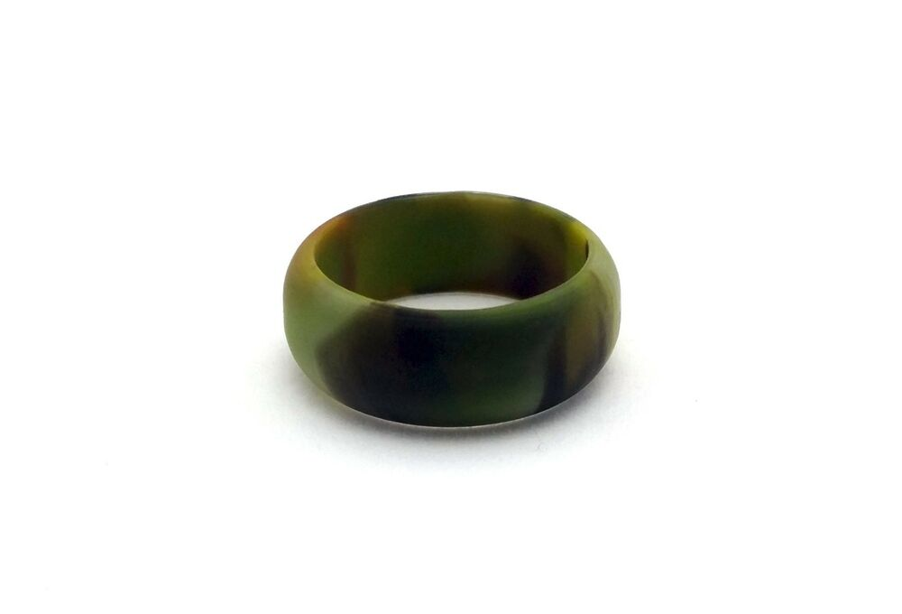 Men S Camo Silicone Wedding Ring Band Military Army