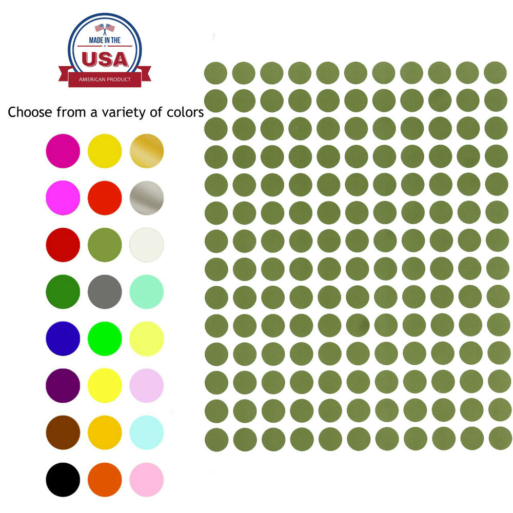 Color Coding Labels 3 8 Quot Stickers Rounds Dot Colored 0 375 Inch Circle 10mm Ebay