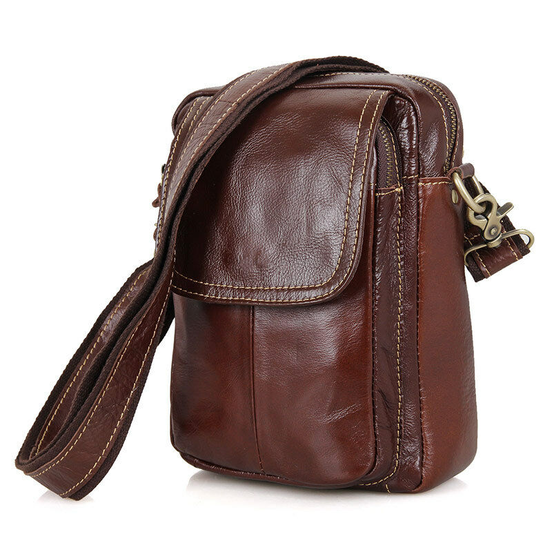 Mens Shoulder Bag Genuine Leather Cross Body Messenger ...