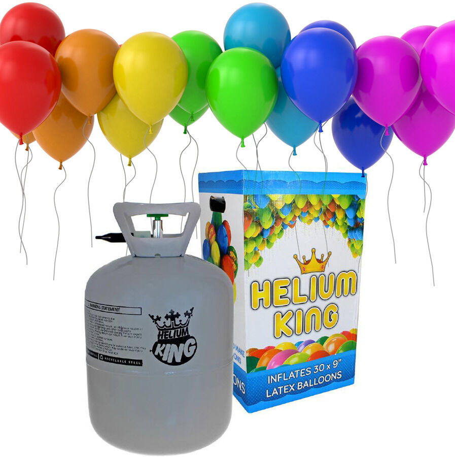 helium ballongas einweg heliumflasche folienballons ballon mit 30 luftballons ebay. Black Bedroom Furniture Sets. Home Design Ideas
