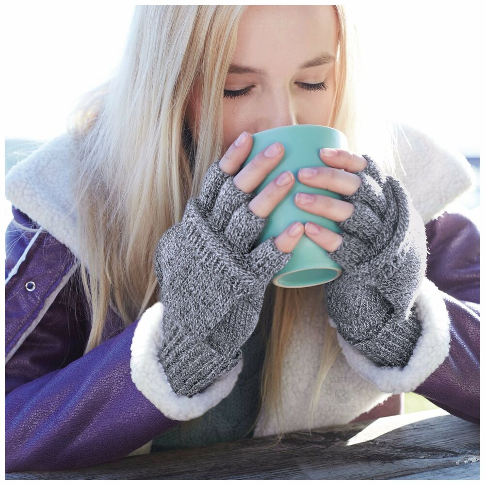 Mens gloves with mitten flap - Convertible Fingerless Gloves Glove Mitt Flip Mittens Mens Womens Winter Warm