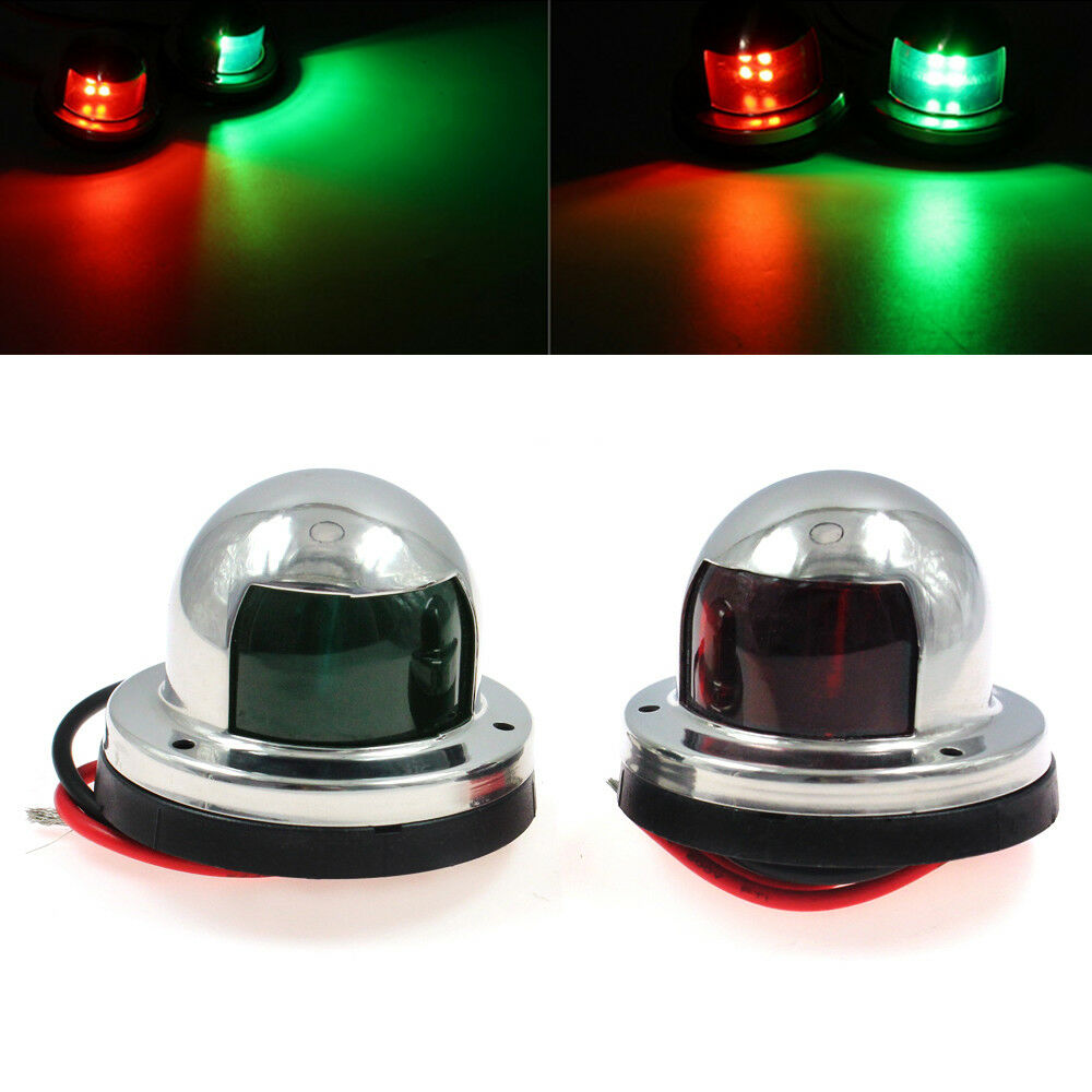 Replace Boat Lights With Led: Marine Boat Pontoons Yacht Light 12V Stainless Steel LED