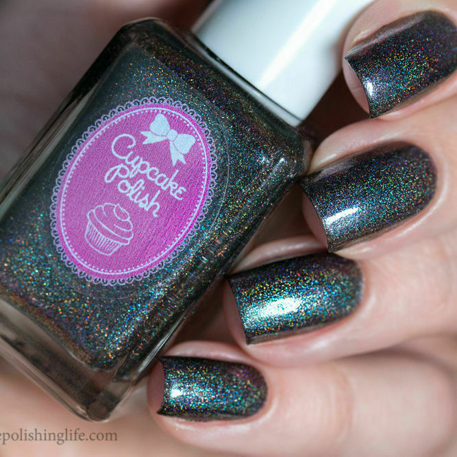 Dark Holographic Nail Polish: Black Holographic Holo With