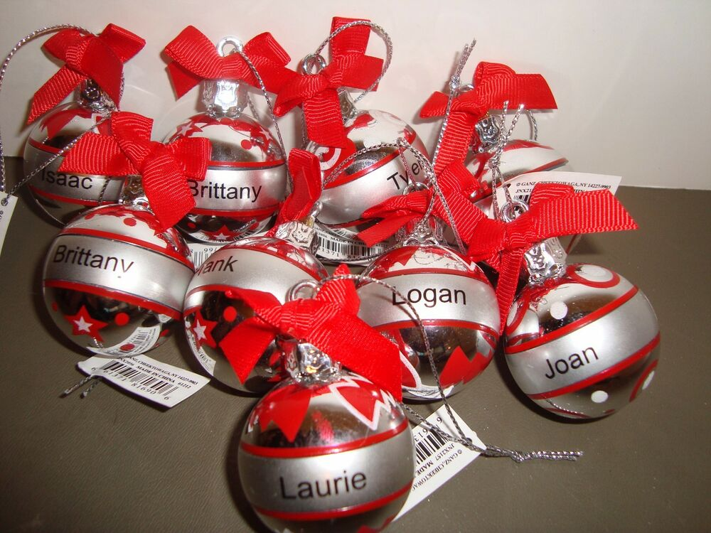 Ganz Personalized Name Christmas Holiday Ball Ornament ...