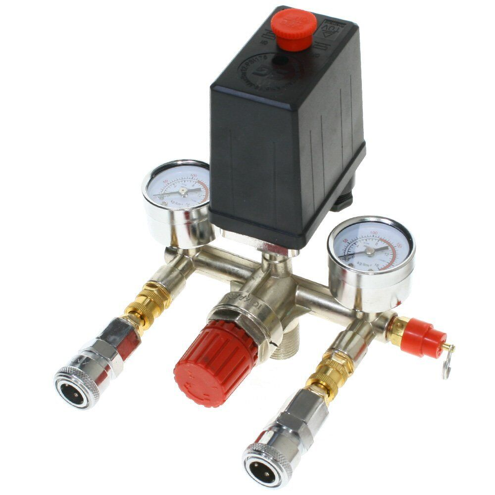 V pressure switch air valve manifold compressor control