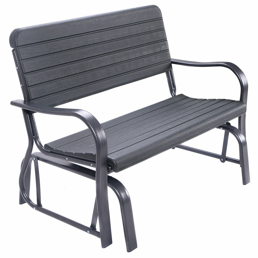 Outdoor Patio Swing Porch Rocker Glider Bench Loveseat Garden Seat Steel Ebay
