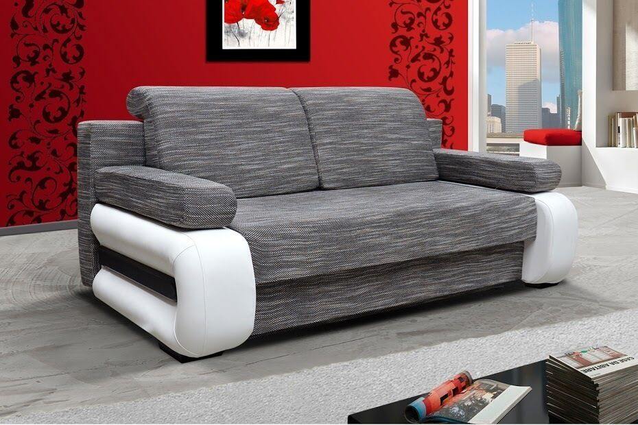 sofa laura2 couch mit bettfunktion 2 sitzer schlaffunktion 01197 ebay. Black Bedroom Furniture Sets. Home Design Ideas