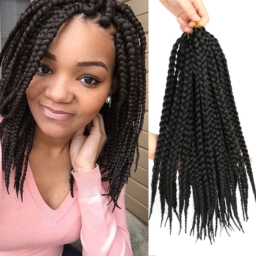 styling synthetic hair extensions black pretwist 3x box braids 14 quot synthetic crochet box 3628