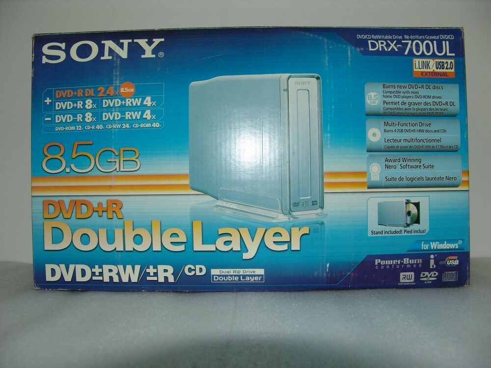 sony drx 700ul external usb dvd burner double layer ebay. Black Bedroom Furniture Sets. Home Design Ideas